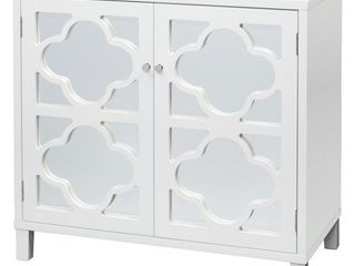 Lifestorey Broadway Mirrored Double Door Cabinet- Retail:$283.99