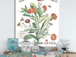 Designart 'Country Florals' Cottage Canvas Wall Art- Retail:$113.49