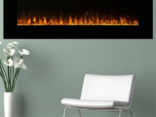 "Northwest 54"" Electric Fireplace Wall MountedLed Fire And Ice Flame With Remote"