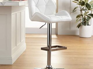 Strick & Bolton Lega Modern Adjustable Swivel Barstool- Retail:$96.49