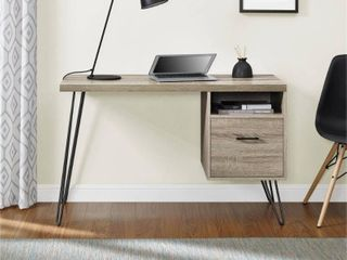 Carson Carrington Silkeborg Sonoma Oak/ Gunmetal Grey Desk - Retail:$171.99