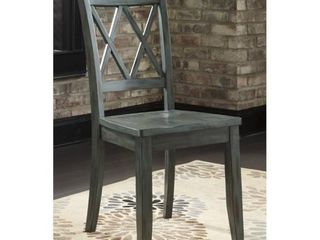 Mestler Dining Room Chair - Set of 2 - Blue/Green- Retail:$204.49