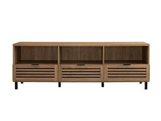 "70"" Jackson Slat TV Console - English Oak"