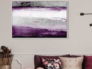 Oliver Gal Abstract Wall Art Canvas Prints 'Envision and Elevate Violet' Paint - Purple, Gray- Retail:$159.99