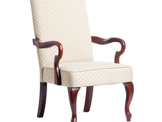 Copper Grove Casalis Cherry Finish Gooseneck Accent Chair - See Product Description- Retail:$183.99
