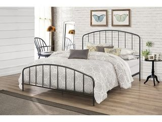Carbon Loft Meitner Vintage Charcoal Metal Bed- Retail:$339.99