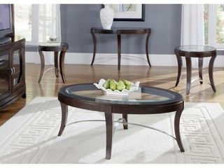 Avalon Dark Truffle Oval Cocktail Table- Retail:$405.49