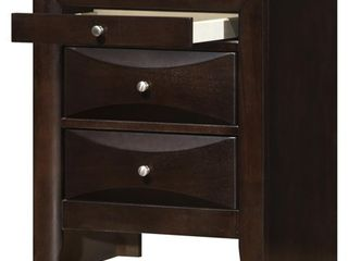 Marilla 3-drawer and Wood Nightstand- Retail:$194.43
