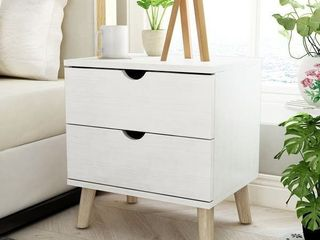 Carson Carrington Gjovik Modern White 2-drawer Nightstand- Retail:$175.49