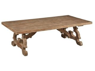 Asbury Fir & Alder Scroll Cut Coffee Table- Retail:$729.49