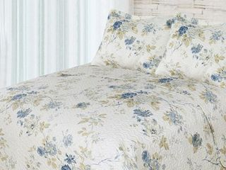 Patch Magic Blue Roses Quilt Set