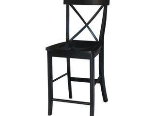 International Concepts 24  X back Counter Height Stool only