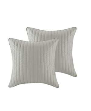 Euro Camila Quilted Sham Gray 2 pc