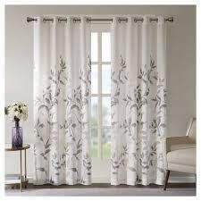 84 x50  Rosalie Burnout Printed Sheer Window Panel 2 pc