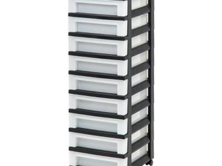 9 Drawer Storage Cart Black Pearl