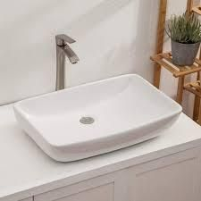 lordear 24  Modern Bathroom Vessel Sink Above Counter Art Basin   24x15x5 2  Retail 105 90 white
