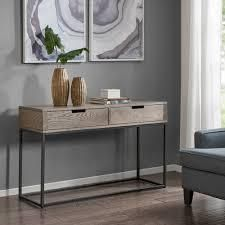 madison park Becca brown slate console large table
