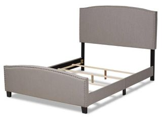 Morgan Modern Transitional Fabric Upholstered Panel Bed  Retail 274 49 grey full