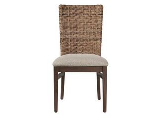Magnolia light Taupe and Wire Brushed Whiskey Dining Chairs  Set of 2  Retail 214 77