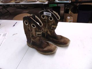 Justin Boots   Steel Toed   Worn   Mens 9D