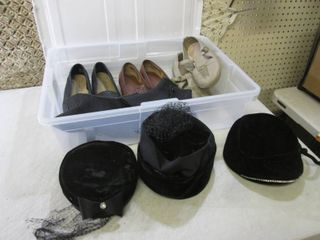Vintage Shoes and Hats in Rubbermai...