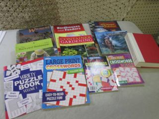 Assorted Books and Crossword Puzzle...