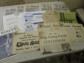 Assorted Vintage Winsted History Pa...