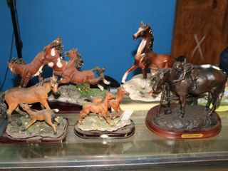 HUGE AUCTION HORSES CAROUSALS COUNTRY STYLE COOKIE JARS