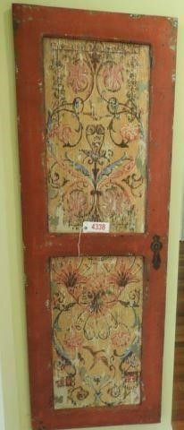 Lot #4338 - Designer painted antique armoire