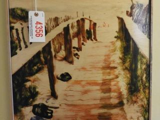 Lot #4356 - Beach themed wooden wall panel 20