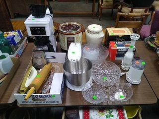 Assorted Kitchenware Items, Coffee Maker,