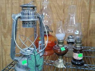 5 Assorted Lamps