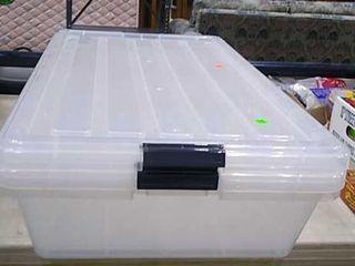 2 Plastic Storage Bins 34x18x7