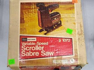 Craftsman Variable Scroll Sabre Saw Untested