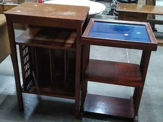 2 End Tables 1 Glass Top