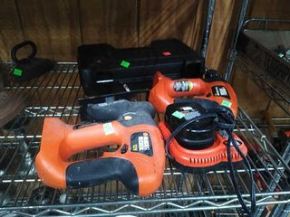 Assorted Black & Decker Electric Tools W/ Case