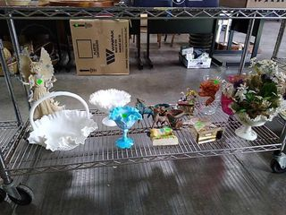 Misc Glass Baskets, Figurines