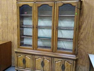 Glass Front China Cabinet 64x17x80