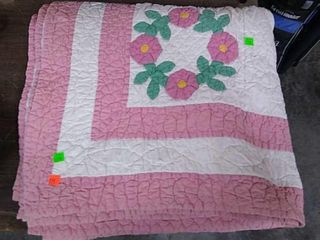 Applique Quilt Hand Pieced/ Hand Quilted