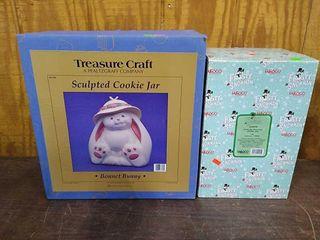 Treasure Craft Bonnet Bunny & Enesco Frosty