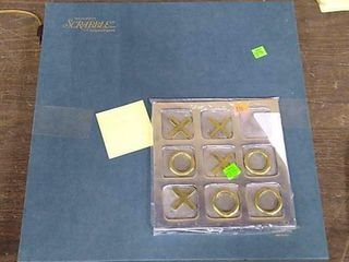 Deluxe Edition Scrabble & Metal Tic- Tac- Toe
