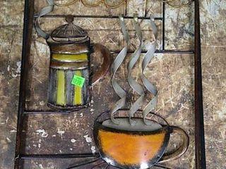 Tin Metal Cafe Art 13x20
