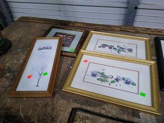 4 Assorted Art Pieces