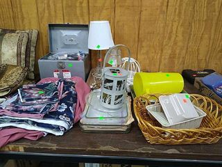 Misc, Lamps, Basket, Table Covers, Tin Box