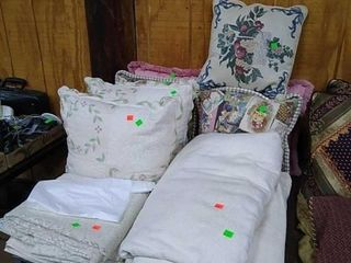 Assorted Pillows, Blankets