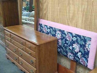 Dresser W/ Mirror & Headboard