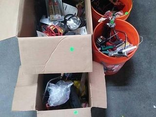 2 Buckets & 2 Boxes Of Assorted Tools