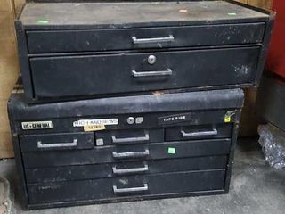 Black Toolboxes W/ Contents
