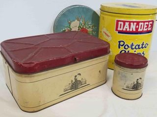 Vintage Tins & Breadbox