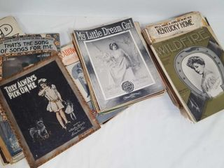 Antique Sheet Music Lot 1